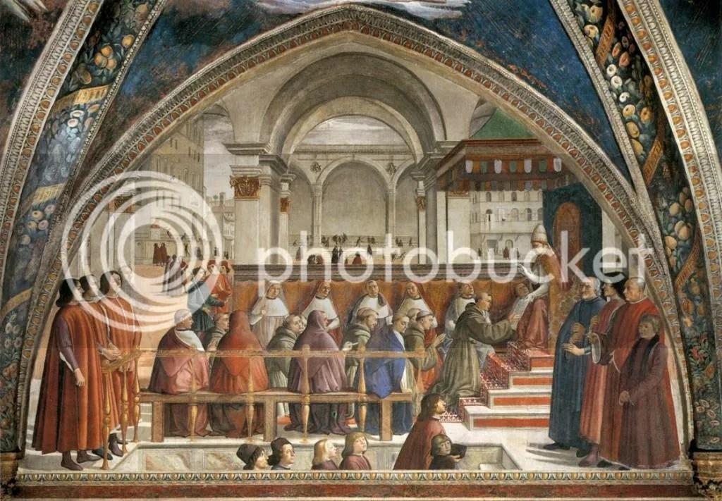 Domenico Ghirlandaio, The Confirmation of the Rule of St Francis, Santa Trinita