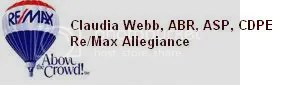 Claudia webb RE/MAX Allegiance