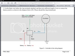 Electrical issue  wiring electric water pump and thermo fan