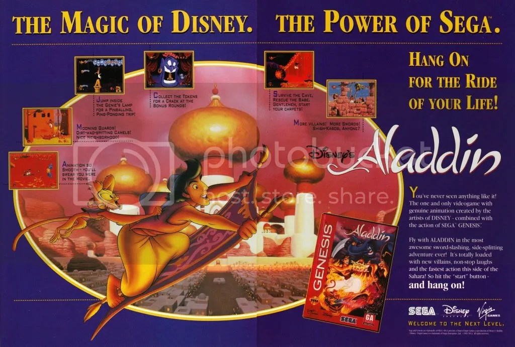 Aladdin for the Genesis ad