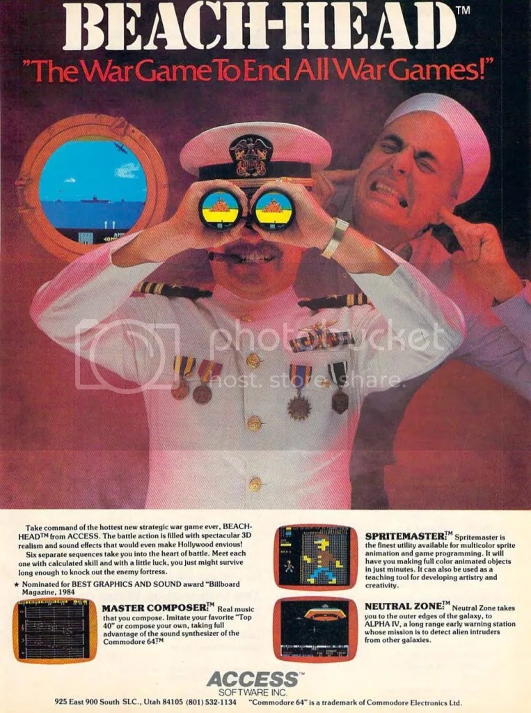 Beach Head ad 1984