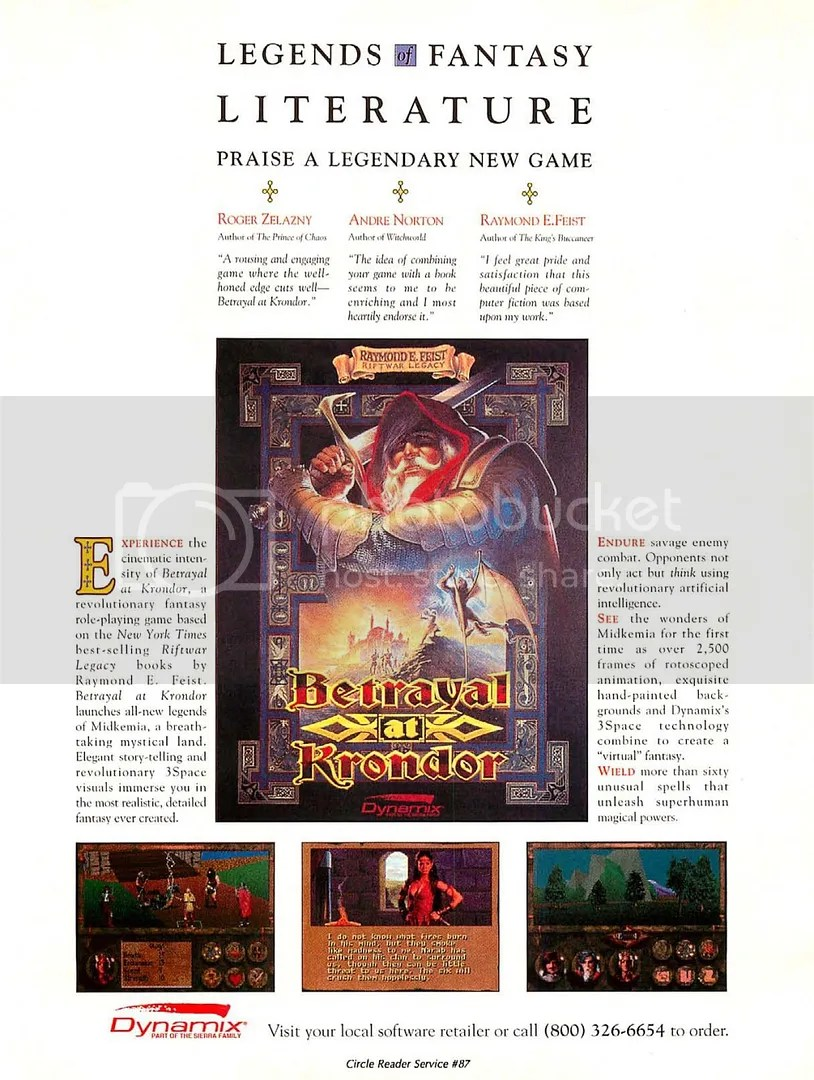 Betrayal at Krondor second ad 1993