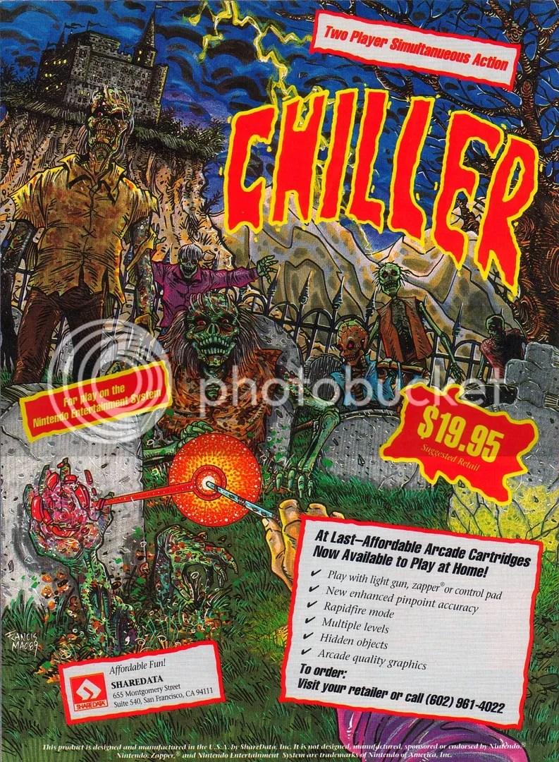 Chiller NES ad 1990
