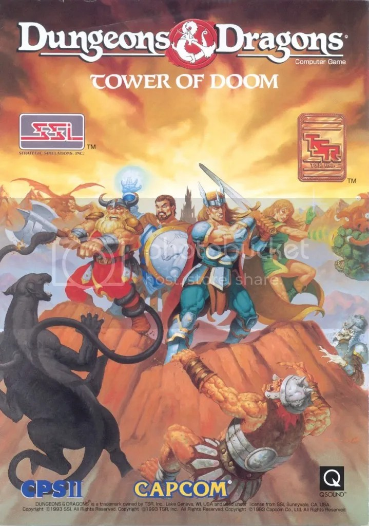 DnD Tower of Doom flyer cover 1993