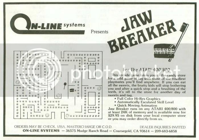 Jawbreaker 1981 ad