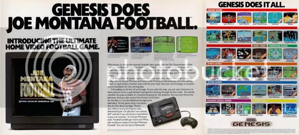 Joe Montana Football ad 1991