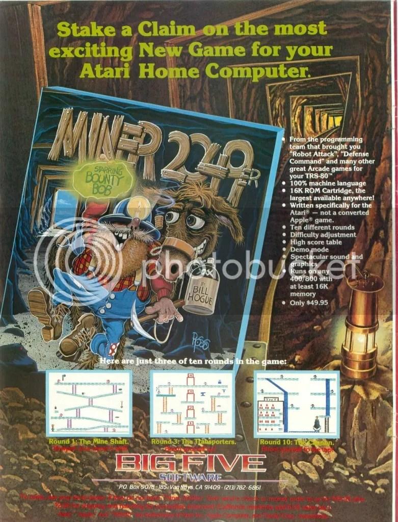 Miner 2049er ad 1982