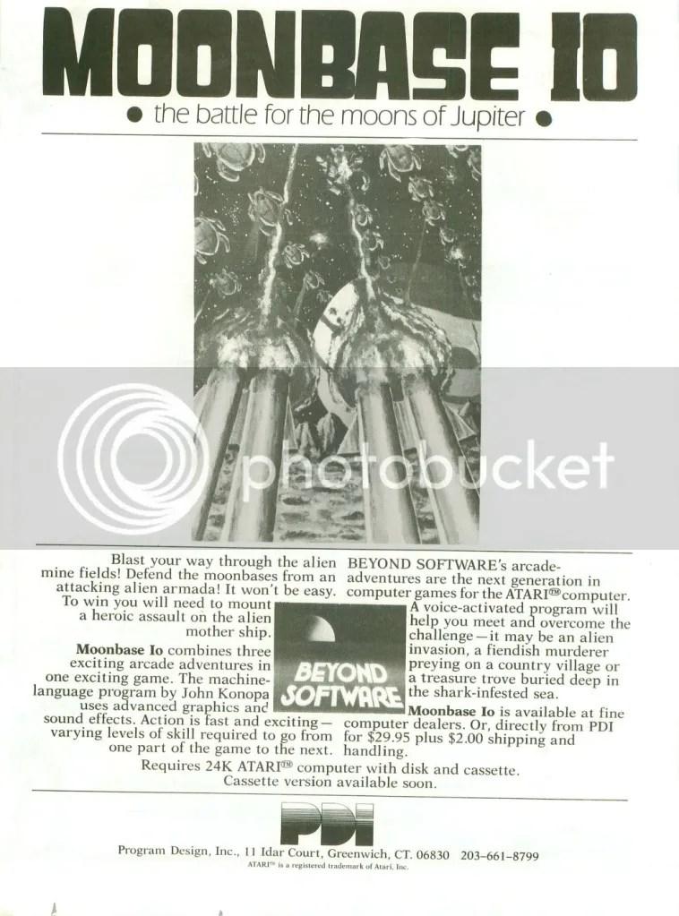 Moonbase IO 1982 ad