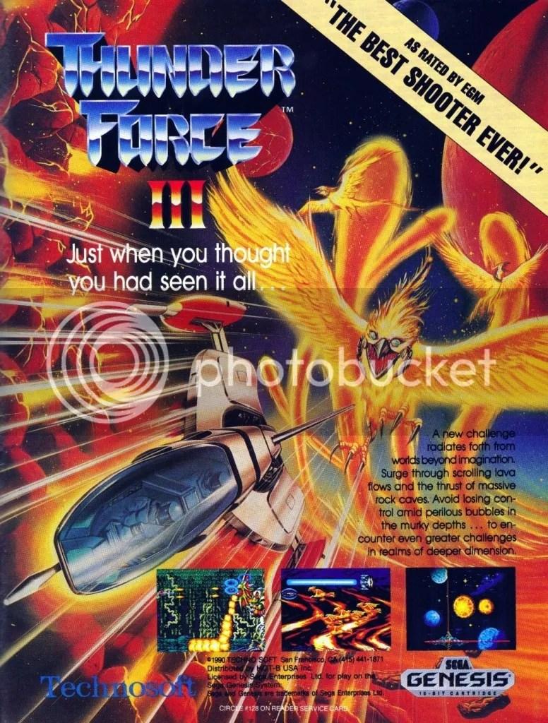 Thunder Force III Genesis ad 1991