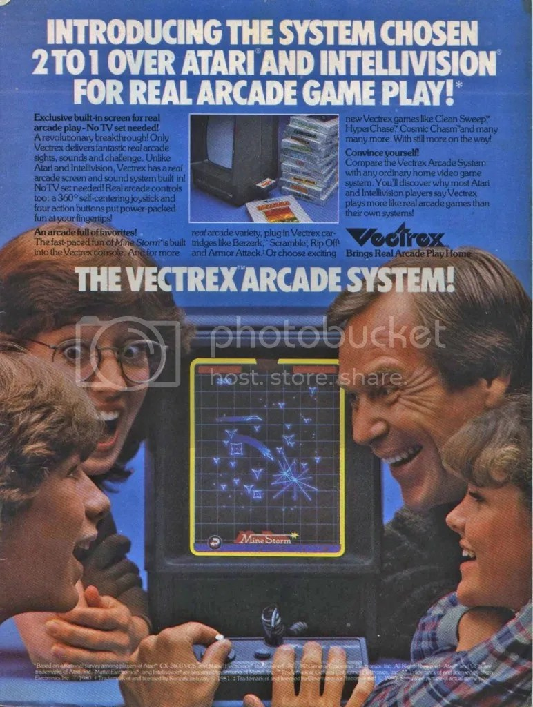 Vextrex ad 1983