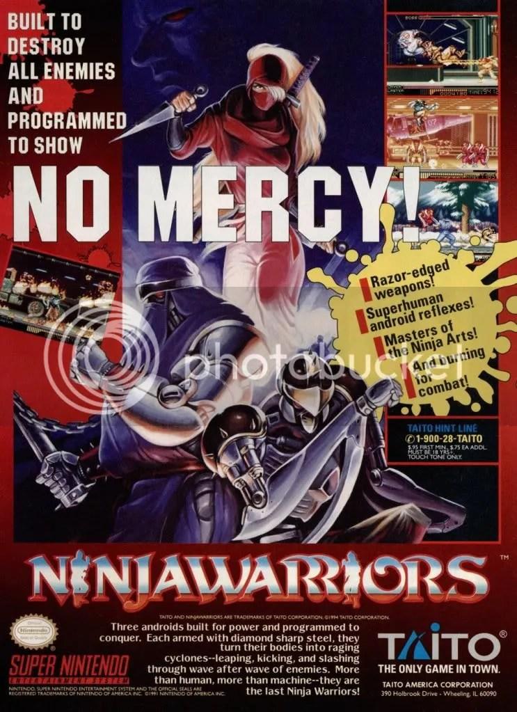 Ninja Warriors SNES ad