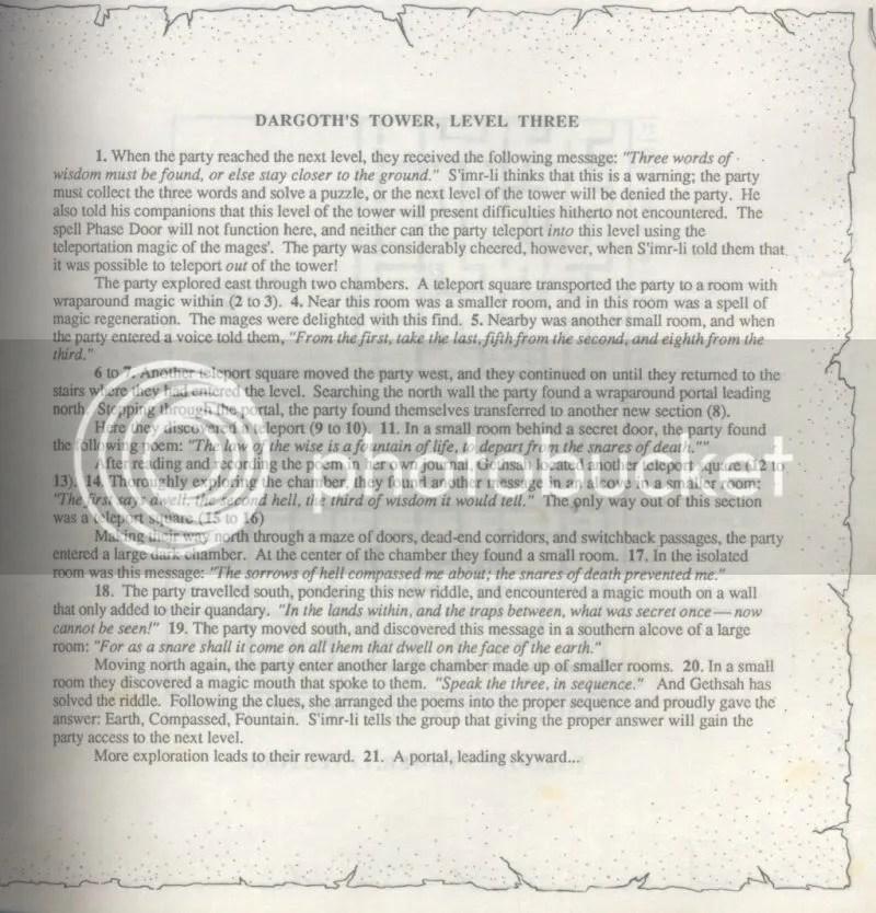 Bard's Tale II Clue Book excerpt