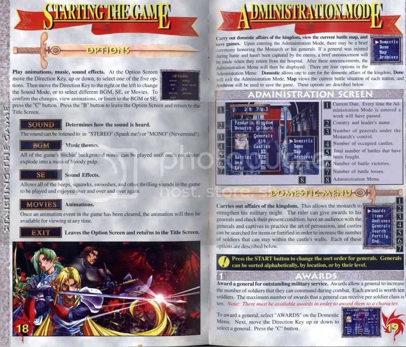 Dragon Force manual excerpt
