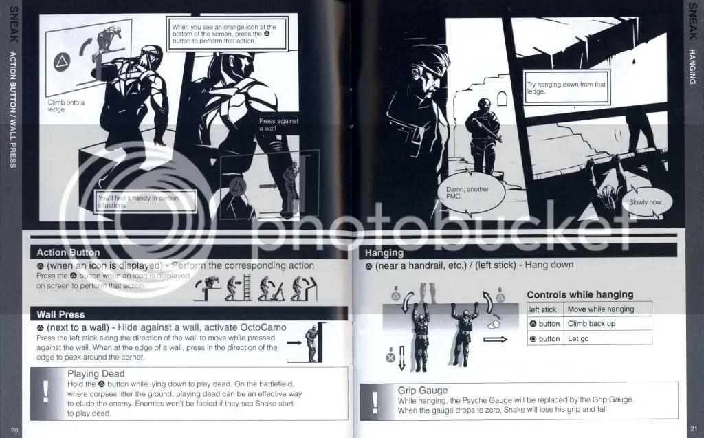 Metal Gear Solid 4 manual excerpt
