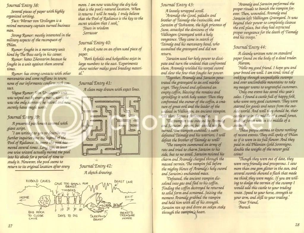 Adventurer's Journal excerpt 1