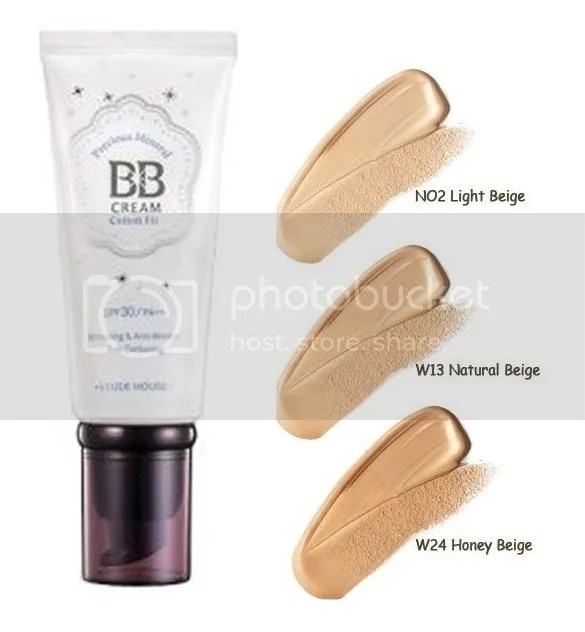 cream makeup bb natural House using Cotton  Fit Etude Cream BB