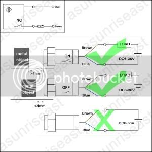Inductive Proximity Switch Sensor 4mm 2Wires NC DC636V Dia 12mm LJ12A34ZDX