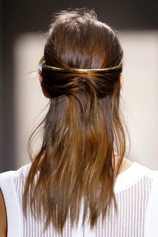 Le Fashion Get Balenciagas Romantic Half Updo With A