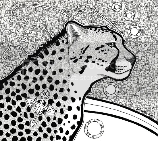 Cheetah as Totem / commission, by Pia Ravenari 2012