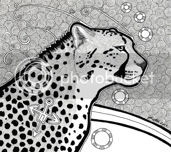 Cheetah as Totem / commission, by Pia Ravenari 2012