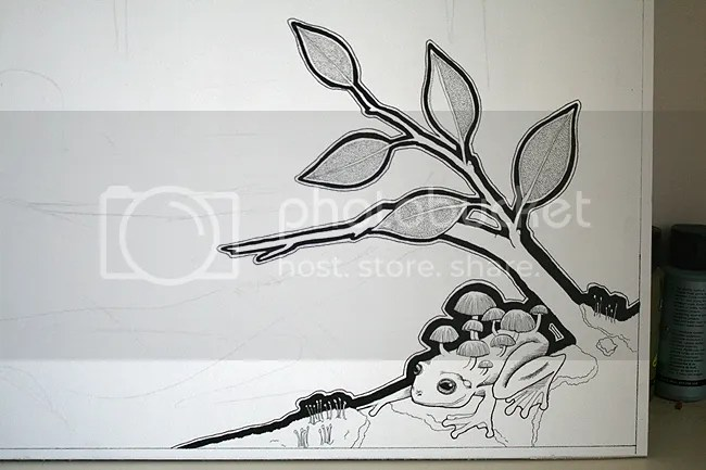 Katt's Forest - WIP 02 - Frogshroom - by Ravenari