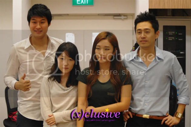 Judges from JYP and staff