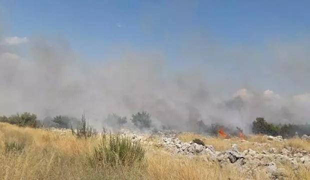 Antalya'da düşen model uçak yangın çıkarttı 1