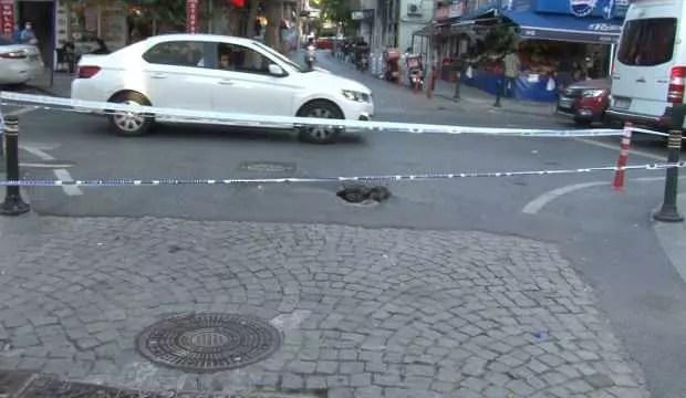 Beşiktaş'ta yol çöktü 1