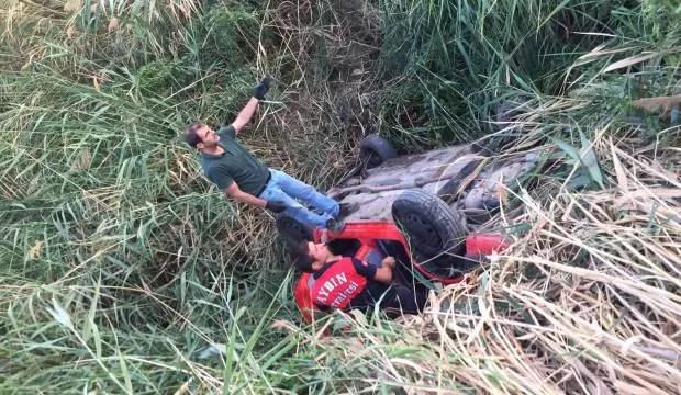 Aydın'da araba devrildi: 1 yaralı 1