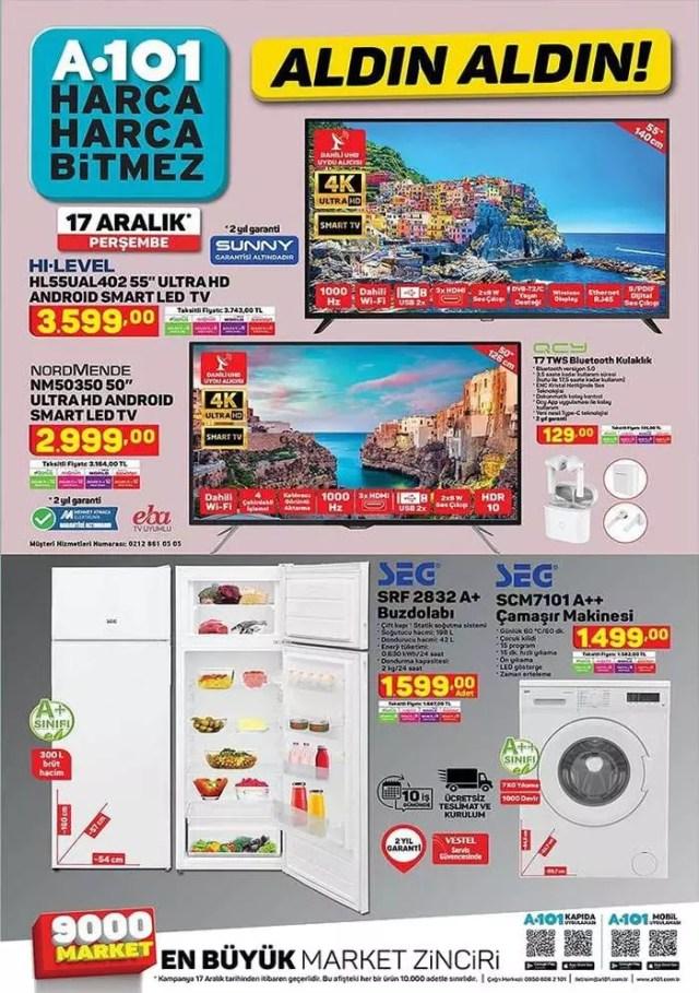 hLYdQ 1607704819 5417 - A101 17 Aralık aktüel kataloğu! Beyaz eşya, züccaciye, mobilya ve oto aksesuar ürünlerinde...