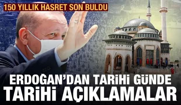 son dakika haberi erdogan 150 yillik hayali gerceklestirdi taksim camii acildi 1622205736 7801