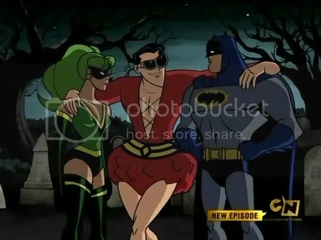 Fire, Plastic Man, Batman