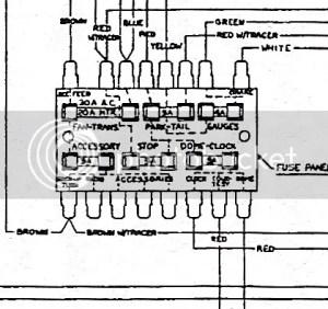 68 Javelin Fuse Panel diagram  The AMC Forum  Page 1