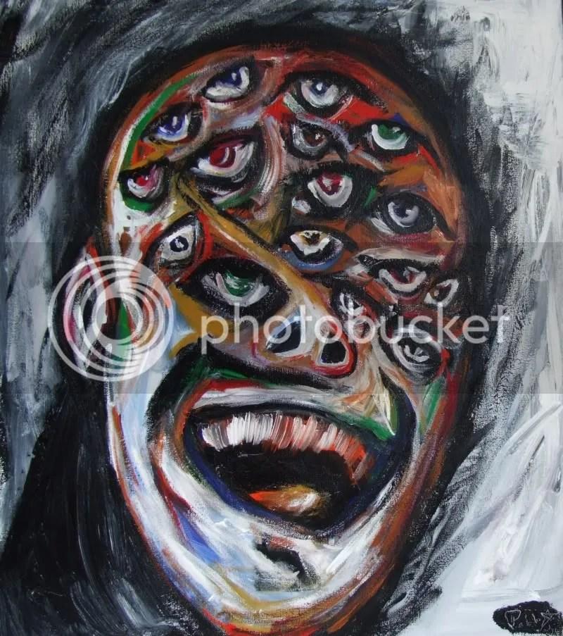 Acrylic Painting Pablo Saborio, 2011