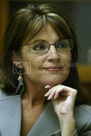 Sarah Palin, looking deceptively intelligent
