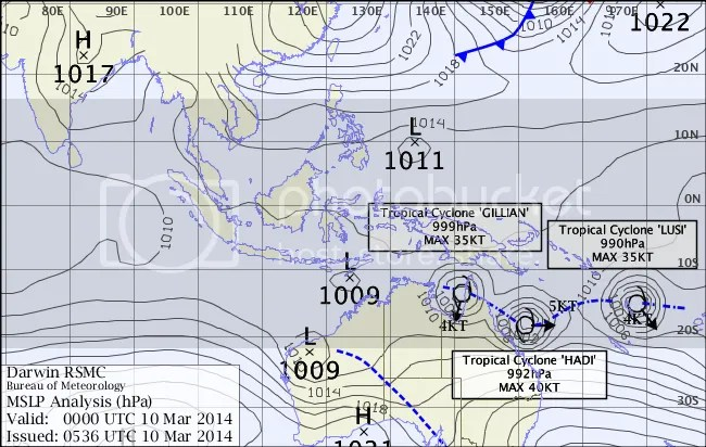 triplets on monsoon trough march 2014 Australia
