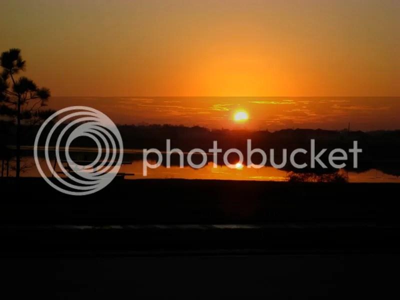 The sunrise in my neighborhood.