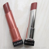 Almay Butter Kiss Lipstick in Nude Light-Medium & Revlon Lip Butter in Pink Truffle