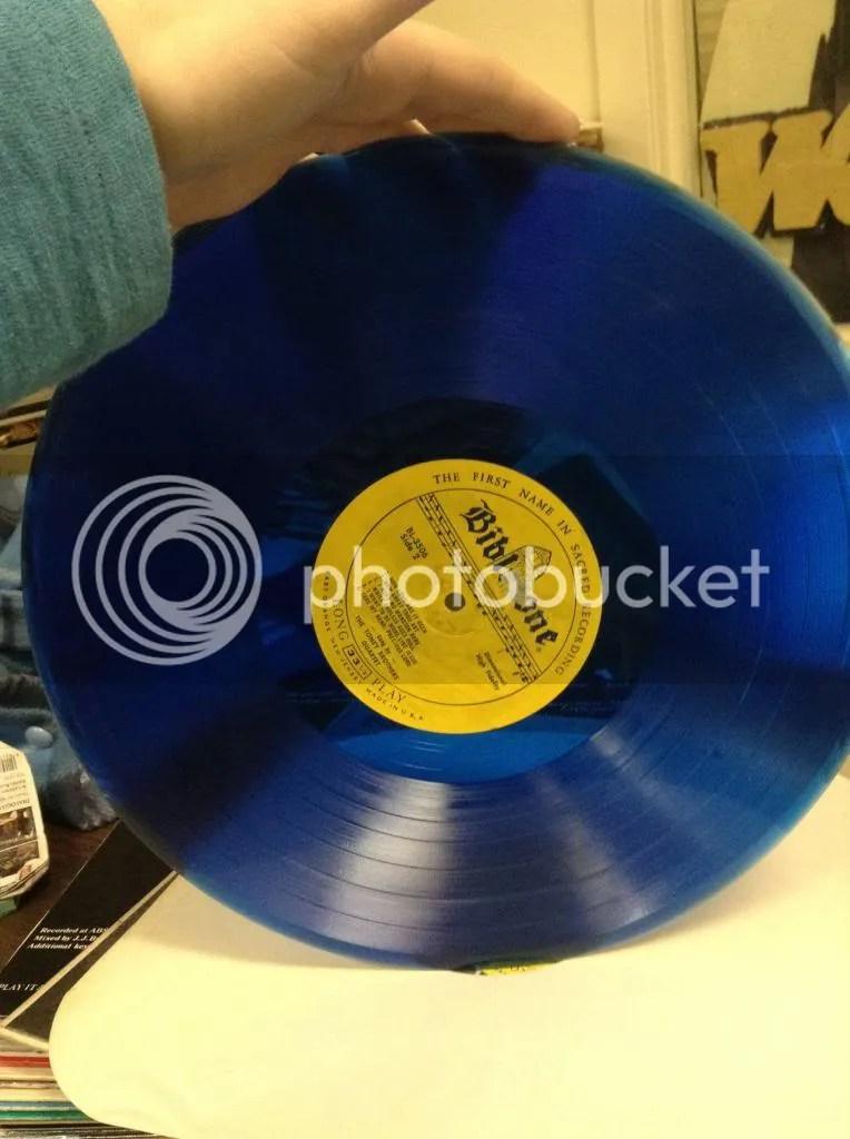 Transparent Blue record