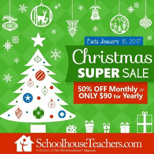 Schoolhouse Teachers Half Price Discount