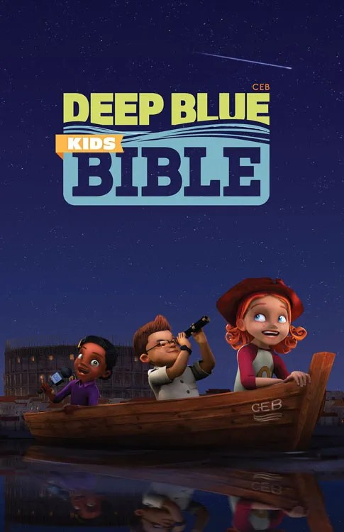 Deep Blue Kids Bible cover
