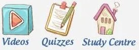 Videos, Quizzes, Study Centre