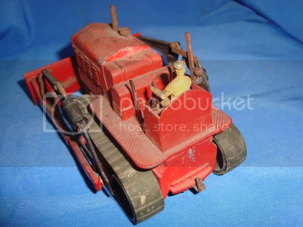 Old Vintagecast Dinky Toy Co Bulldozer Model Toy From