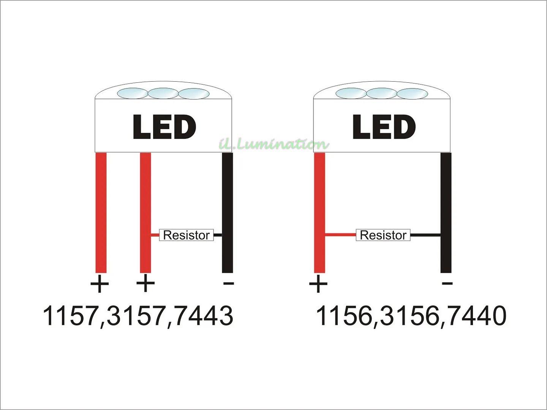 2pcs Load Resistor Fix Led Bulb Fast Flash Turn Signal