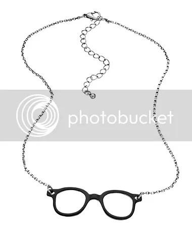 blu bijoux silver eye glass necklace (max & chloe)