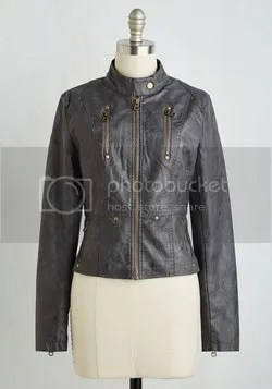 visibility oak jacket in charcoal (modcloth)