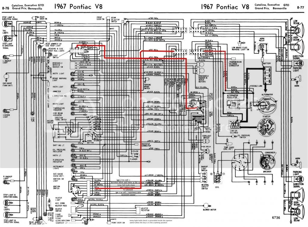 1967 gto hood tachometer wiring diagram 1965 pontiac gto vacuum rh banyan palace com