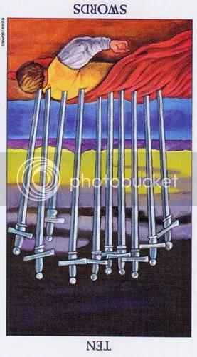 Ten of Swords reversed