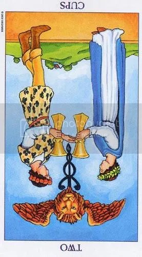 Radiant Rider-Waite 2 of Cups Reversed