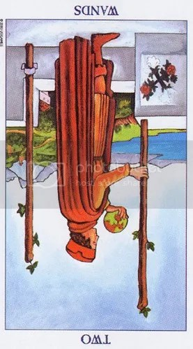 Gemini - Two of Wands reversed